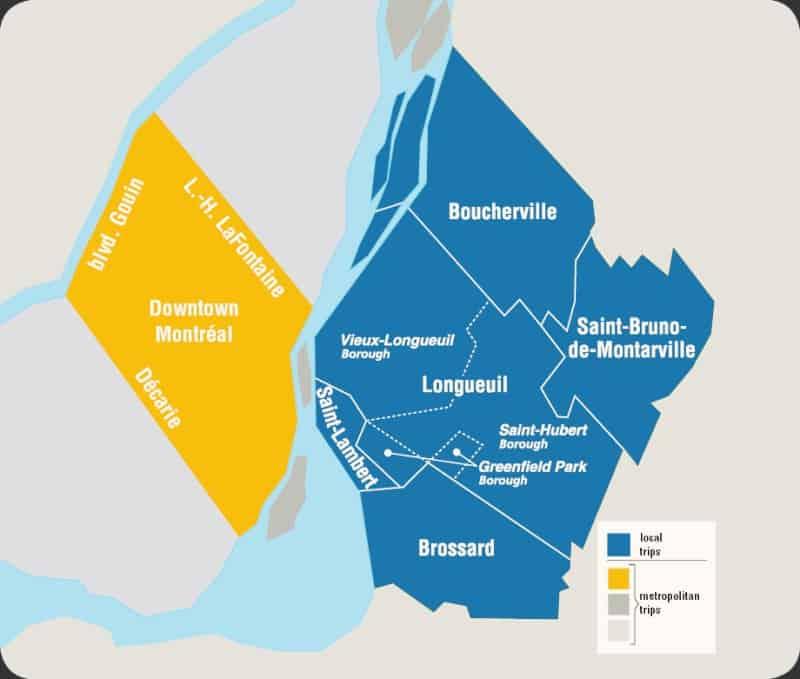 Le territoire de la Montérégie-Est